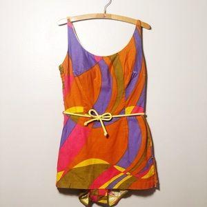 Vintage 1960's Canvas Swim Suit